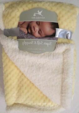 Adirondack Super Soft & Snuggly Girls Baby Blanket Yellow/Iv