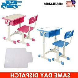Adjustable Children's Desk and Chair Set Child Study Kids St