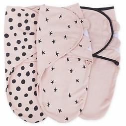 Adjustable Swaddle Blanket Infant Baby Wrap Set 3 Pack 0-3 M