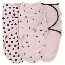 Adjustable Swaddle Blanket Infant Baby Wrap Set 3 Pack
