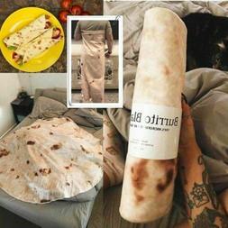 "Adults Kids Burrito Blanket Throw Tortilla 60"" Round Flannel"