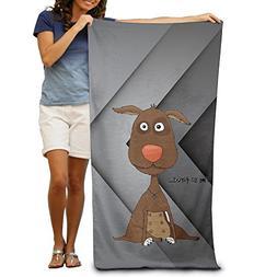 Adutl Individual The Donkey Round Beach Towel