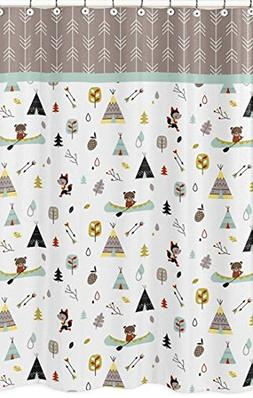 Sweet Jojo Designs Outdoor Adventure Kids Bathroom Fabric Ba