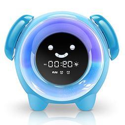 KNGUVTH Alarm Clock for Kids Bedrooms, Children Sleep Traini
