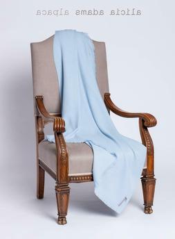 ALICIA ADAMS BABY ALPACA  LIGHT BLUE THROW BLANKET  BNWT  $3