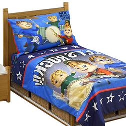 Alvin and the Chipmunks 4 Piece Toddler Bedding Set