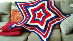 American flag/Patriotic Baby or Toddler Star Crochet blanket