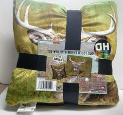 American Heritage 48 x 60 Deer Buck Silk Touch Throw Blanket