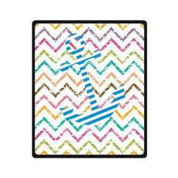 "Anchor With Abstract Zigzag Pattern Custom Blanket 50"" x 60"""