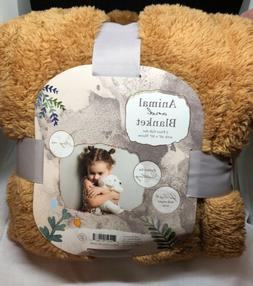 Animal And Blanket Lion 2 Piece Gift Set Silver One New