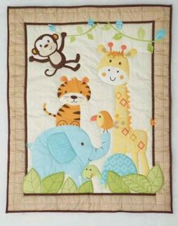 Garanimals Animal Antics 4 Piece Nursery Crib Set Tiger Elep