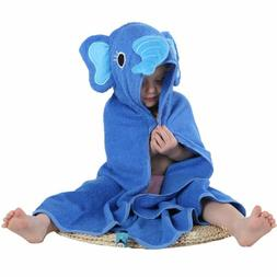 MICHLEY Animal Face Hooded Baby Towel Cotton Bathrobe for Bo