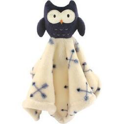 Hudson Baby Animal Friend Plushy Security Blanket, Blue Owl