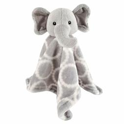 animal friend plushy security blanket gray elephant