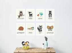 Nature Animal Mini Print Collection, 5x7 Wall Cards, Nursery