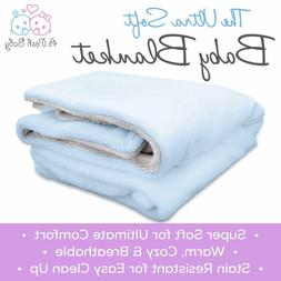 APB Baby Blanket with Double Layer Backing, Ultra Soft, Warm