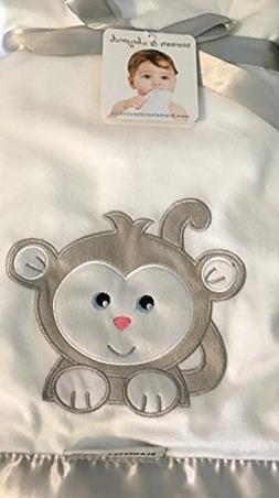 Blankets and Beyond Appliqued Monkey Blanket