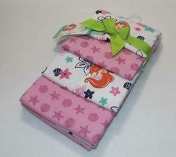 Disney Ariel Sea Treasures Flannel Blanket - 4-Pack