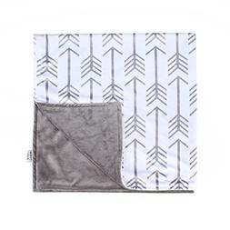 Towin Baby Arrow Minky Double Layer Receiving Blanket Grey 3