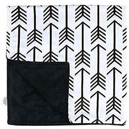 Towin Baby Arrow Minky Double Layer Receiving Blanket, Black
