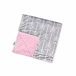 Towin Baby Arrow Minky Double Layer Receiving Blanket, Pink