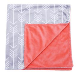 Towin Baby Arrow Minky Double Layer Receiving Blanket, Coral