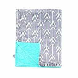 Towin Baby Arrow Minky Double Layer Receiving Blanket, Mint
