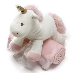 Baby GUND Luna Unicorn with Pink Blanket Stuffed Animal Plus