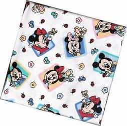 Disney Babies Mickey & Minnie Mouse Flannel Receiving Blanke