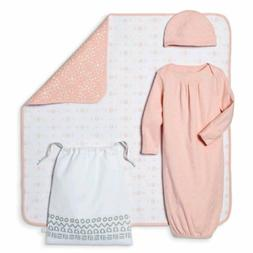 BABY 4 PIECE GOWN , HAT , BLANKET AND BAG SET BY: NATE BERKU