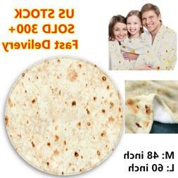 "Baby Adult Travel Camping Tortilla Blanket Burrito 60/"" Corn and Flour Tortilla"