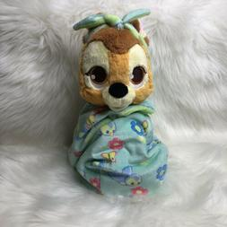 """Disney Parks Baby Bambi Plush with Blanket Pouch 10"""" Babies"""
