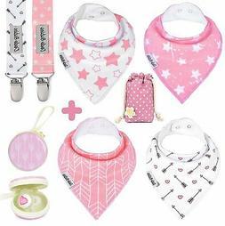 BabyBandana DroolBibs by Dodo Babies For Girls + 2 Pacif