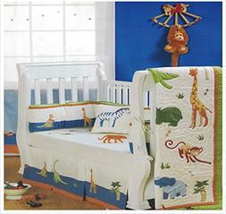 Baby Bedding Crib Sets Boy, 5 Pieces Includes Quilt, Bumper,