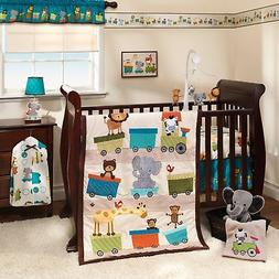 Baby Bedding Crib Sets Neutral Nursery Brown Comforter Anima
