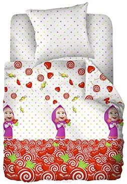 Masha and the Bear Baby Bedding Set Birthday Bedroom Pillow