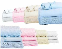 Baby Bedding Starter Bundle Blanket Sheet Set Moses / Cot Ba