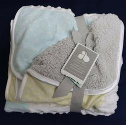 "Just Born Baby Blanket 30"" x 40"" Stars Patchwork Popcorn Mul"