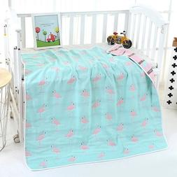 Baby Blanket 4 Layers Bamboo Bedding Cover Newborn Quilt Str