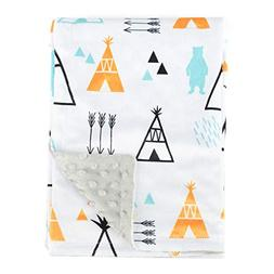 Boritar Baby Receiving Blanket for Boys and Girls Soft Minky