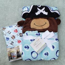 Baby Blanket and Crib Sheet Set Pirate Nautical Treasure Isl