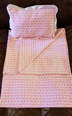 Baby Blanket and Pillow, handmade, organic cotton, girl, pin