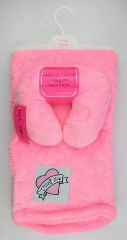 Betsey Johnson Baby Blanket and Pillow Set in Pink