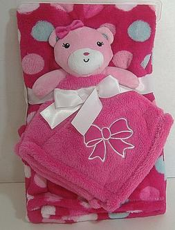 Baby Gear Baby Blanket and Plush Lovey set Polka dots/bear 2