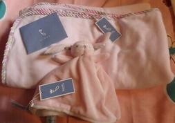 JACADI ~ BABY  BLANKET and SECURITY BLANKET / LOVEY~ PINK &
