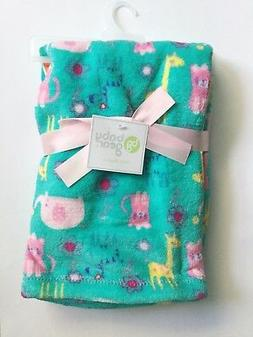 "BABY BLANKET BABYGEAR 30""X40"" INFANT GIRLS CRIB THROW JUNGLE"