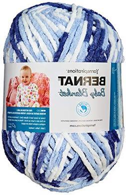 Bernat Baby Blanket Big Ball Yarn  Blue TWIS