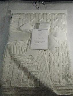 Little Luxury Baby Blanket Cable Knit Off White 100% Cotton