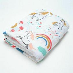 Baby Blanket Cotton Newborn Swaddle Stroller Cover Muslin Pl