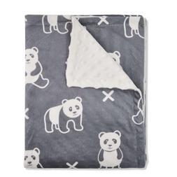 Boritar Baby Blanket/Crib Quilt Soft Minky Double Layer Dott